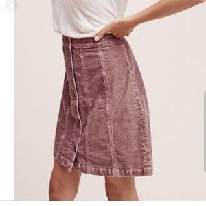 Pilcro & the Letterpress Corduroy Gallery Skirt